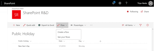 sharepoint, building flow