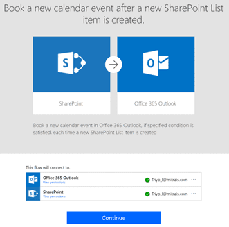 sharepoint workflow, create the Flow