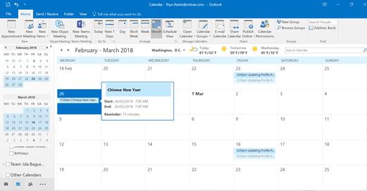sharepoint workflow, test result in calendar
