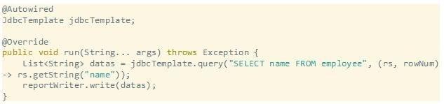 Spring respective code sample