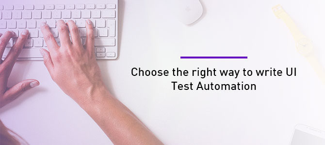 write ui test automation